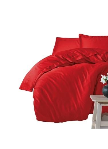 Cotton Box Elegant %100 Pamuk Saten Çift Kişilik Nevresim Takımı Kırmızı Kırmızı